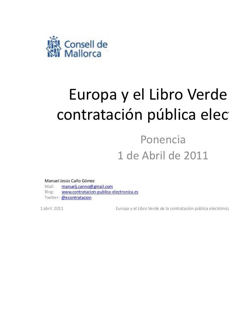 EuropayelLibroVerdedela                     l b        d d l         contrataciónpúblicaelectrónica         contr...