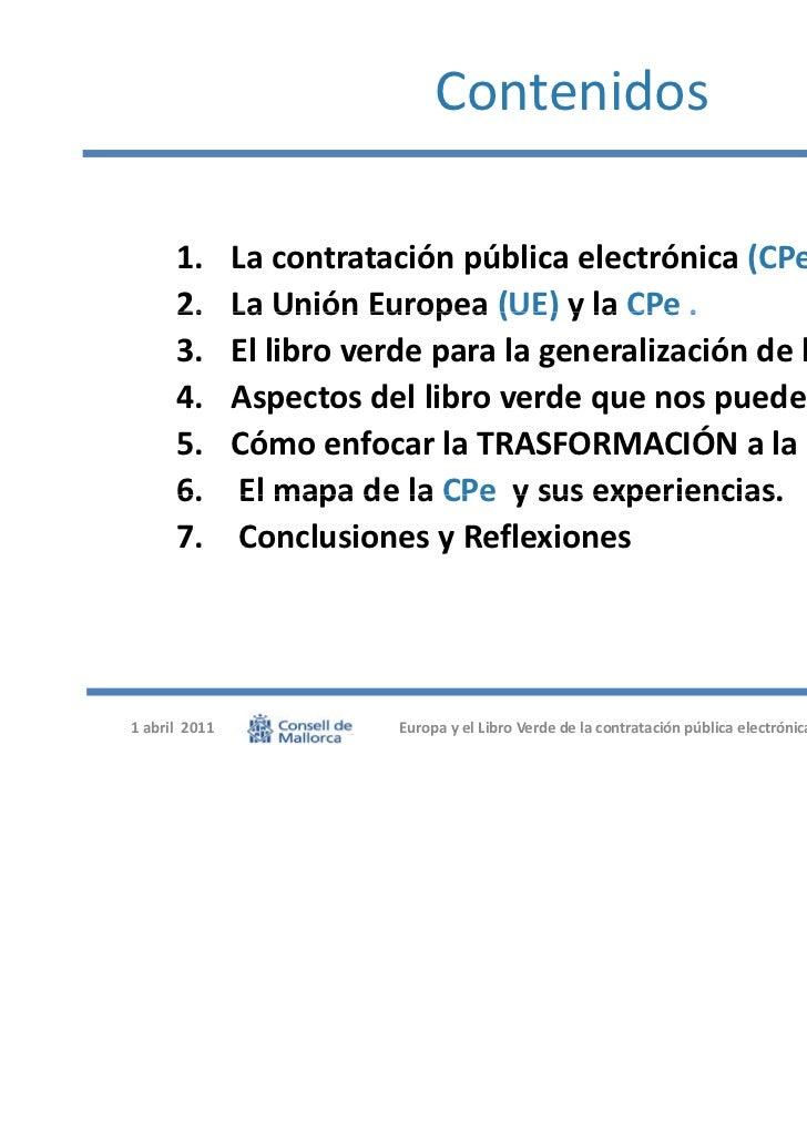 Presentación europa y el libro verde de la contratación Slide 2