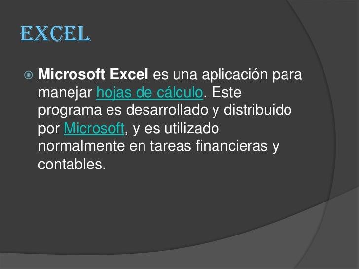 Presentación excel Slide 3