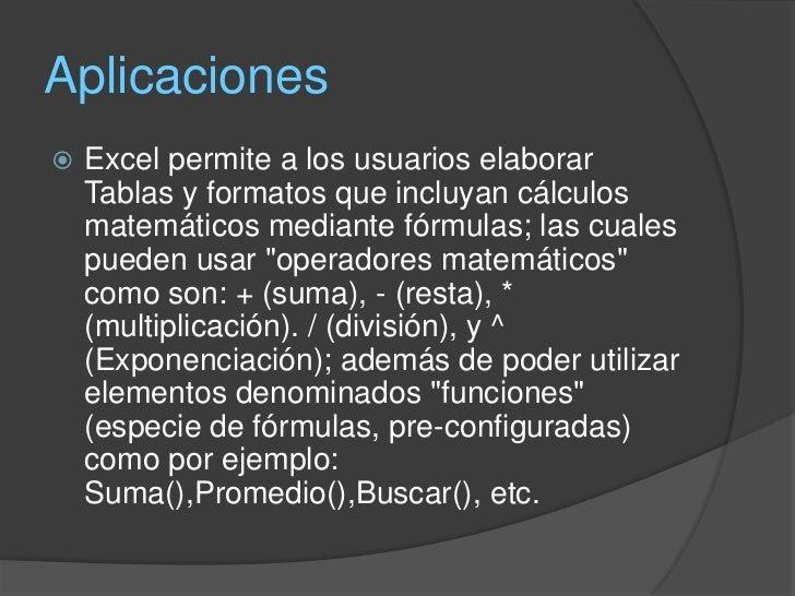 que es una formula enExcel   Las fórmulas en Excel son expresiones que se    utilizan para realizar cálculos o procesamie...