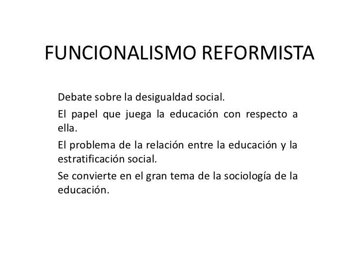 Funcionalismo Reformista