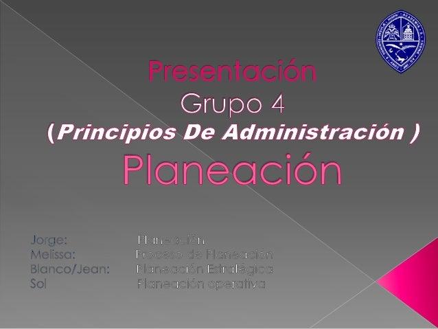   La planeación consiste en fijar el curso concreto acción que ha de seguirse, estableciendo principios que habrán de ori...