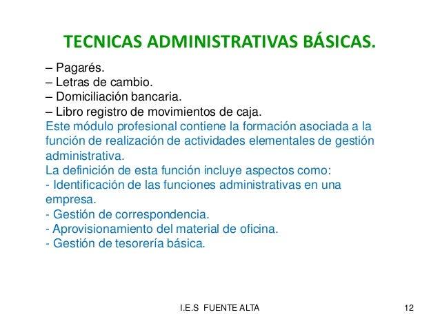 Presentaci n f 2015 16 for Oficina administrativa definicion