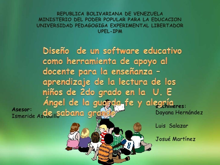 REPUBLICA BOLIVARIANA DE VENEZUELA          MINISTERIO DEL PODER POPULAR PARA LA EDUCACION         UNIVERSIDAD PEDAGOGIGA ...
