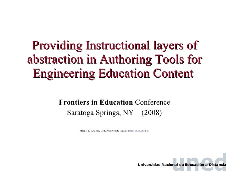 Providing Instructional layers of abstraction in Authoring Tools for Engineering Education Content   Frontiers in Educatio...