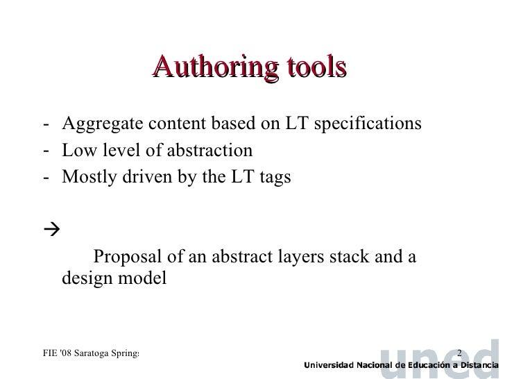 IEEE FIE 2008 Saratoga  Paper 1197 Slide 2