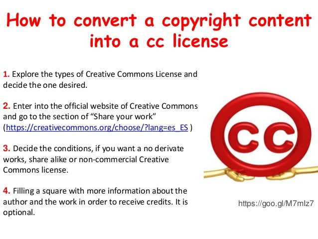 #SOyER1617 CREATIVE COMMONS LICENSE AND STERPS TO DO A ...