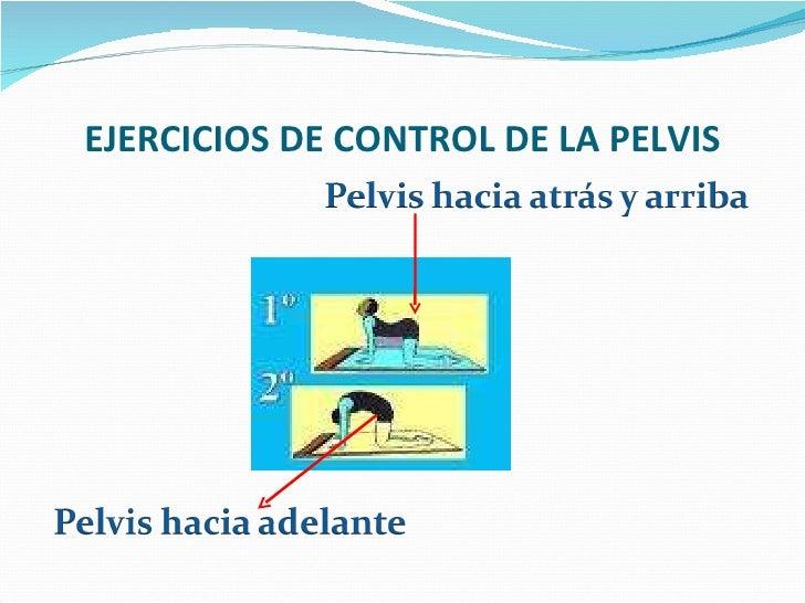EJERCICIOS DE CONTROL DE LA PELVIS