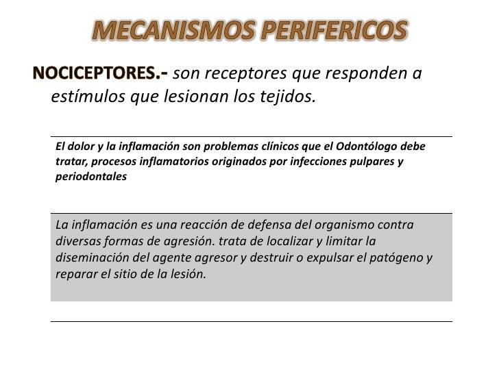 Presentación fisiopatologia del dolor
