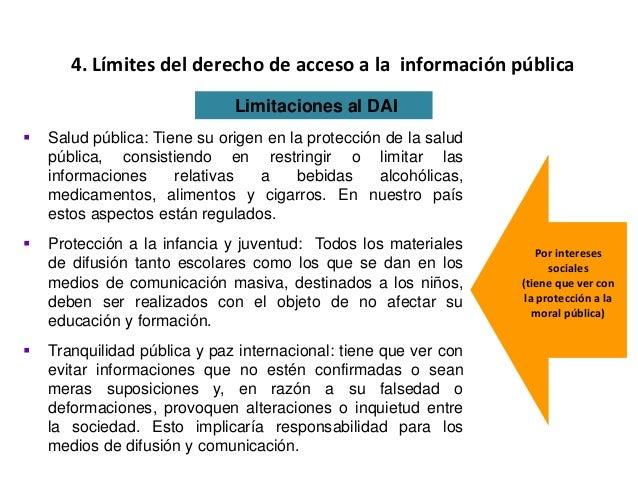  Salud pública: Tiene su origen en la protección de la salud pública, consistiendo en restringir o limitar las informacio...