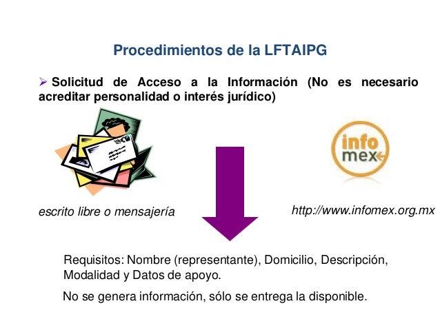 Requisitos: Nombre (representante), Domicilio, Descripción, Modalidad y Datos de apoyo. No se genera información, sólo se ...