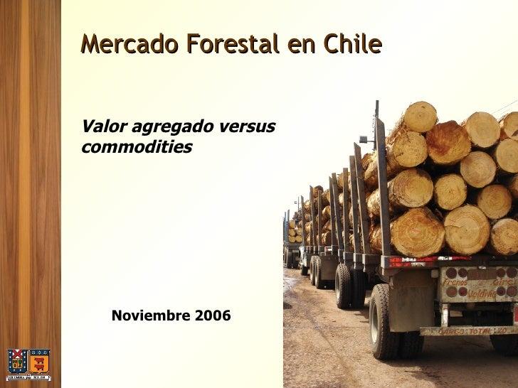 Mercado Forestal en Chile Valor agregado versus commodities Noviembre 2006