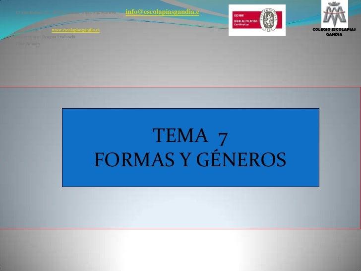 C/ San Rafael, 25   46701-Gandia  Tfno. 962 965 096info@escolapiasgandia.e<br />www.escolapiasgandia.es<br />Departament l...