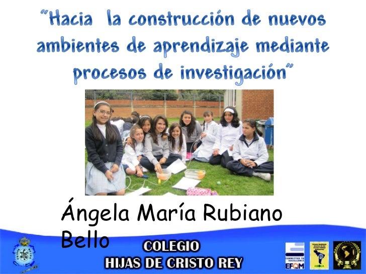 Ángela María Rubiano Bello