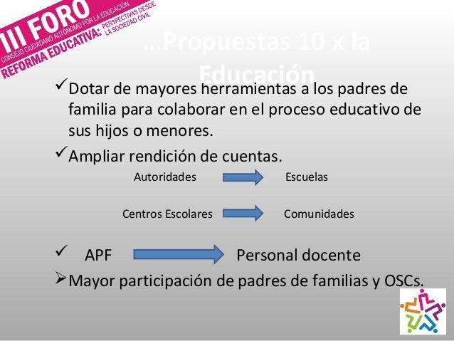 Representación Sindical Municipales, estatales y nacionales Fortalecer aún ás la autonomía de las escuelas CONSEJOS ESC...