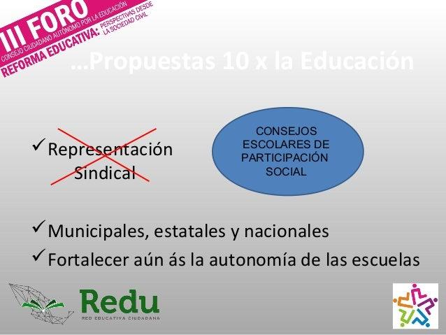 …Propuestas 10 x la Educación Ley General del Instituto Nacional de Evaluación para la Educación (INEE) Bien evaluación a...