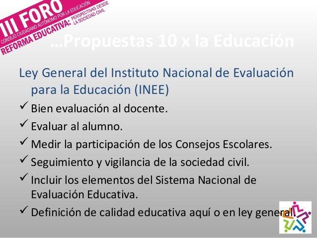 Incluir lineamientos que establecerá INEE para promoción, permanencia y estímulos docentes. Ampliar los criterios es que...