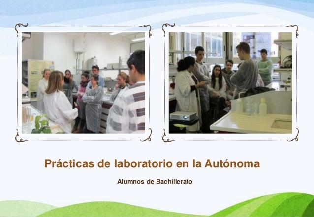 Prácticas de laboratorio en la Autónoma             Alumnos de Bachillerato