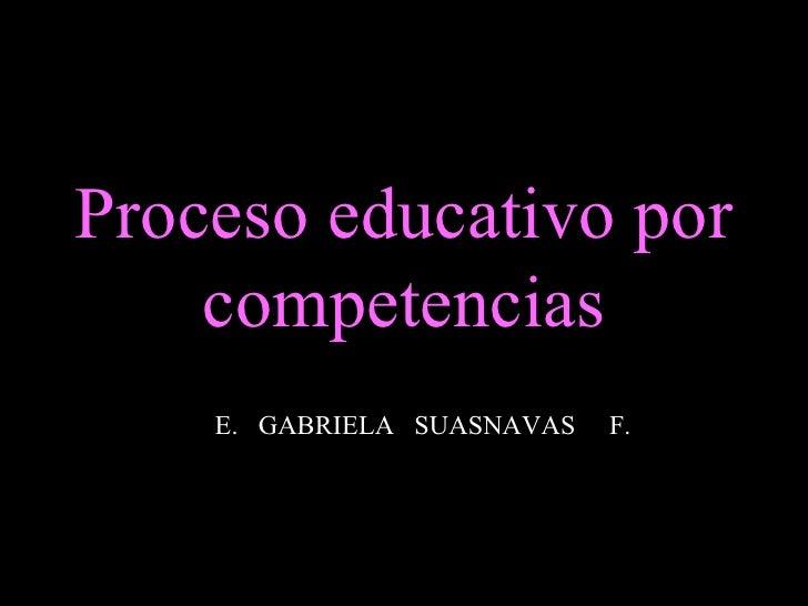 Proceso educativo por competencias E.  GABRIELA  SUASNAVAS  F.