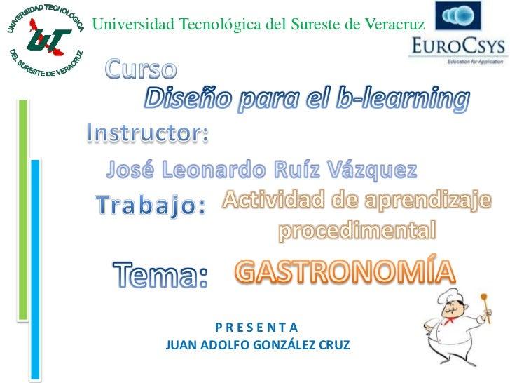 Universidad Tecnológica del Sureste de Veracruz                 PRESENTA          JUAN ADOLFO GONZÁLEZ CRUZ