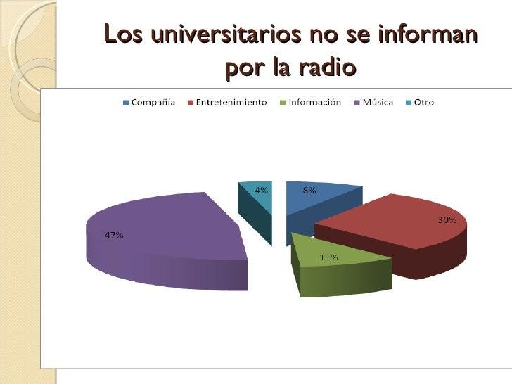 Los universitarios no se informan por la radio