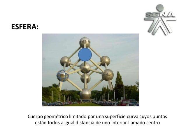 ESFERA: Cuerpo geométrico limitado por una superficie curva cuyos puntos están todos a igual distancia de uno interior lla...