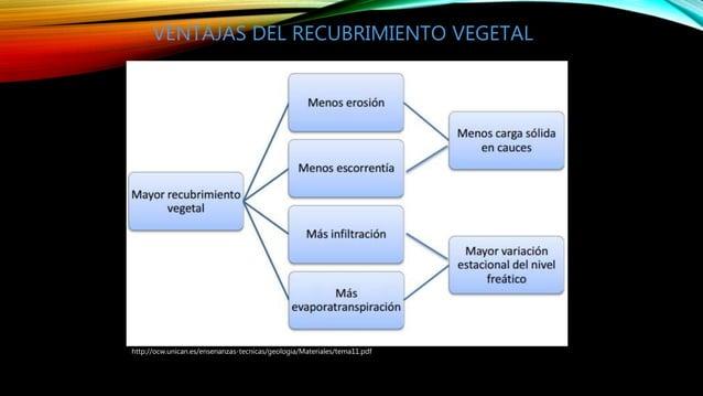 http://ocw.unican.es/ensenanzas-tecnicas/geologia/Materiales/tema11.pdf VENTAJAS DEL RECUBRIMIENTO VEGETAL