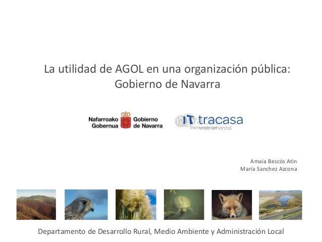 La utilidad de AGOL en una organización pública: Gobierno de Navarra Departamento de Desarrollo Rural, Medio Ambiente y Ad...