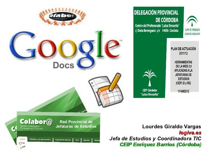 Red Provincial deJefaturas de Estudios                Lourdes Giraldo Vargas                                              ...