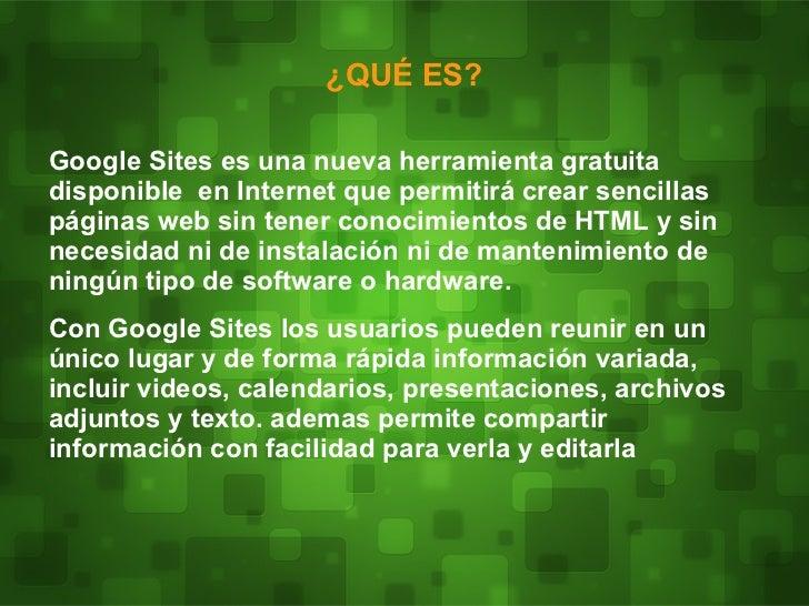 Presentación googlesites Slide 3