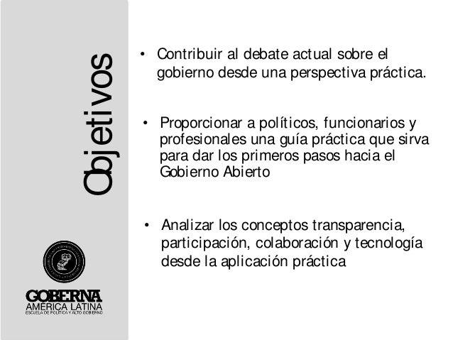 Presentación Libro Guía para Abrir Gobiernos (San Salvador) Slide 2