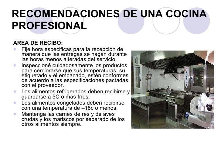Presentaci n higiene y seguridad en la cocina for Material de cocina profesional