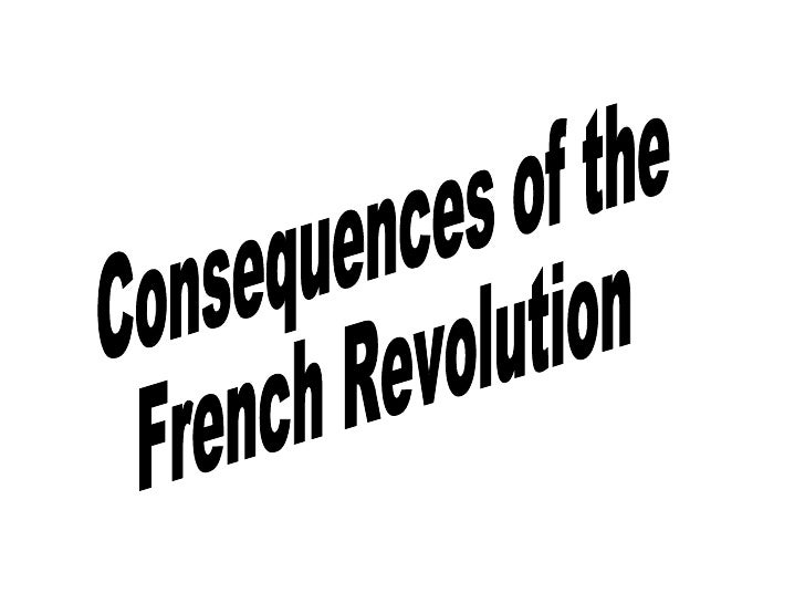 Consequences of the French Revolution