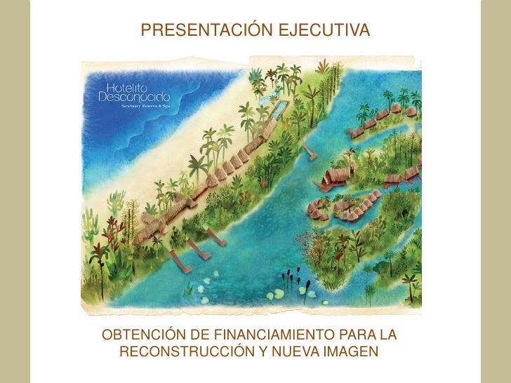 PRESENTACIÓN EJECUTIVAOBTENCIÓN DE FINANCIAMIENTO PARA LA  RECONSTRUCCIÓN Y NUEVA IMAGEN