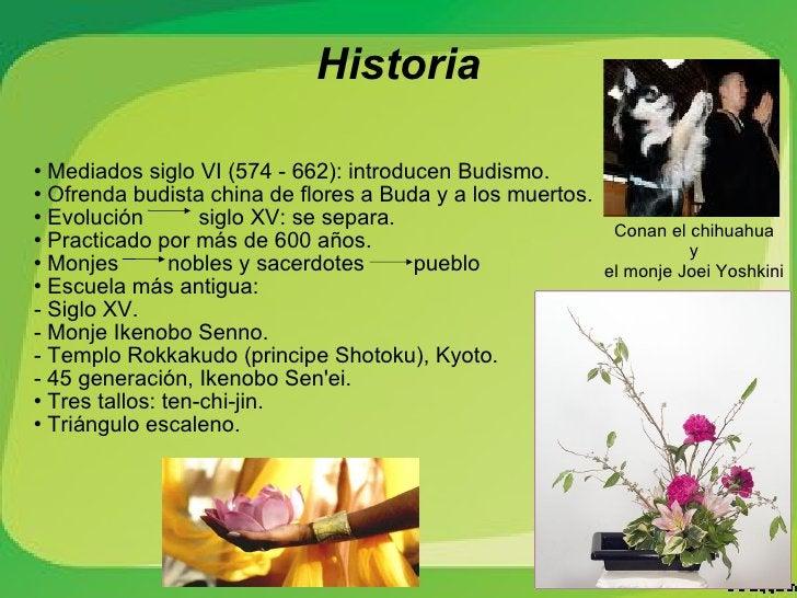 <ul><li>Mediados siglo VI (574 - 662): introducen Budismo.  </li></ul><ul><li>Ofrenda budista china de flores a Buda y a l...