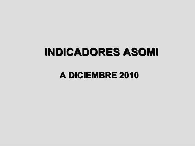 INDICADORES ASOMI  A DICIEMBRE 2010