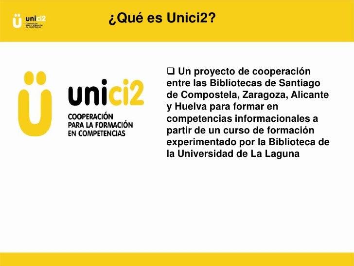 Formar en competencias informacionales de forma cooperativa en bibliotecas universitarias españolas Slide 3