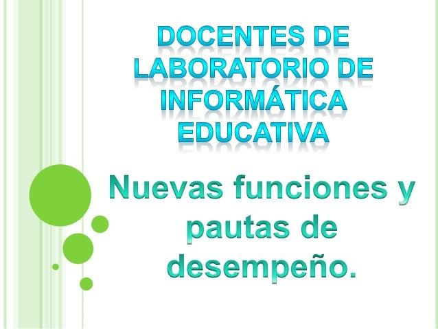 En el Marco del Plan Ceibal en la Educación Media, el Laboratorio de Informática será el referente natural ante la comunid...