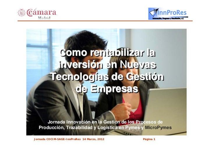 InnProRes                                                     Innovación, Progreso y Resultados, s.l.          Como rentab...