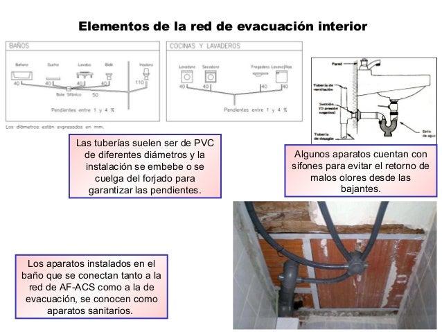 Los aparatos instalados en el baño que se conectan tanto a la red de AF-ACS como a la de evacuación, se conocen como apara...