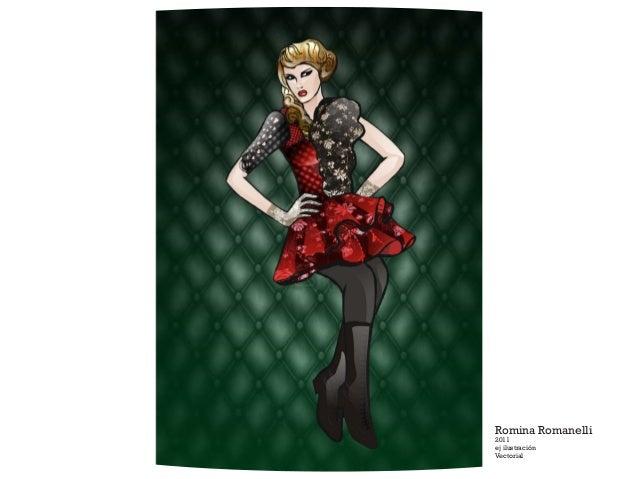 Romina Romanelli 2011 ej ilustración Vectorial