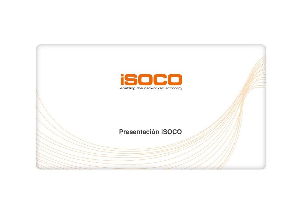 Presentación iSOCO                          1