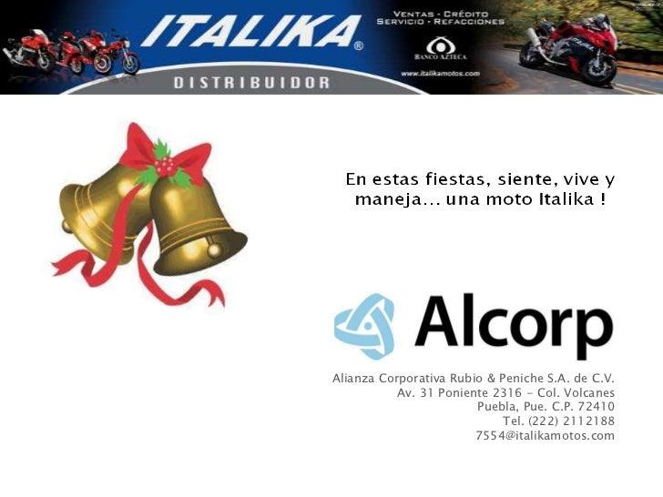 Alianza Corporativa Rubio & Peniche S.A. de C.V.           Av. 31 Poniente 2316 - Col. Volcanes                        Pue...