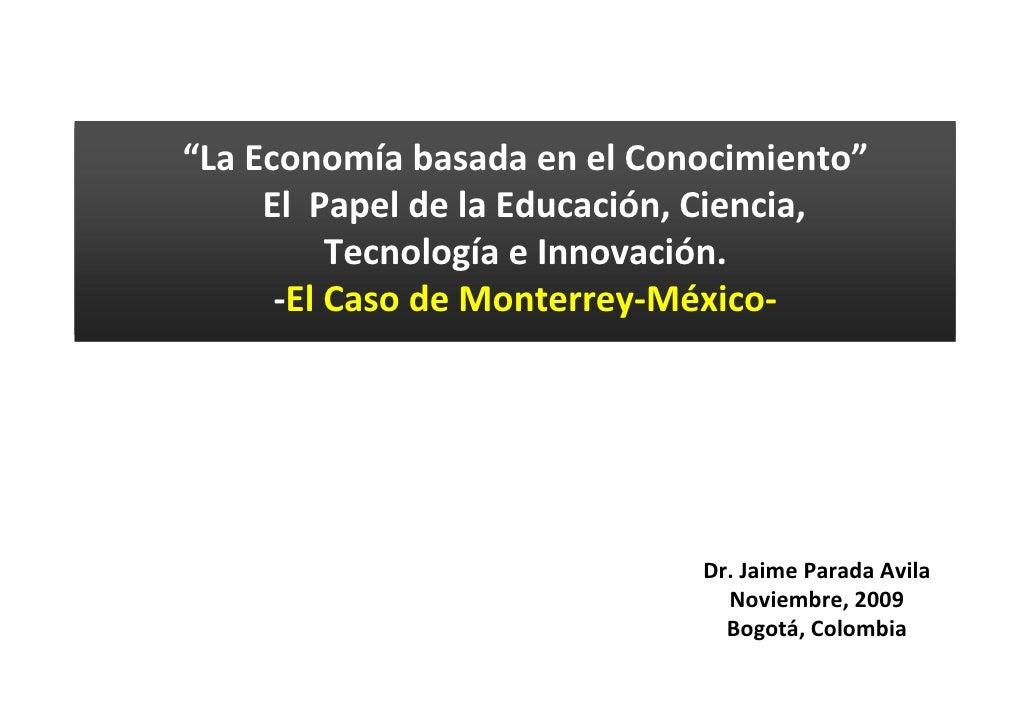 Foro Innovación y Educación Superior: Presentación Jaime Parada conferencia internacional - México