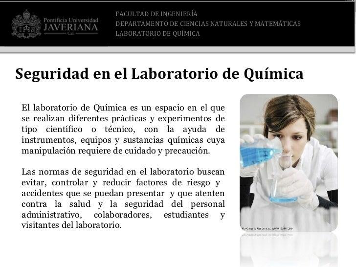 Seguridad en el Laboratorio Slide 3