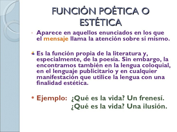 Ejemplos De Funcion Poetica Unifeed Club