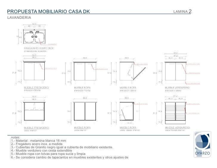 Presentaci n lavanderia kt for Mobiliario para planos