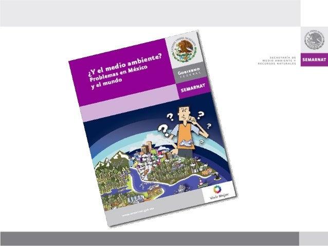 El libro ¿Y el medio ambiente? Problemas de México y el Mundo, fue elaborado por la Dirección General de Estadística e Inf...