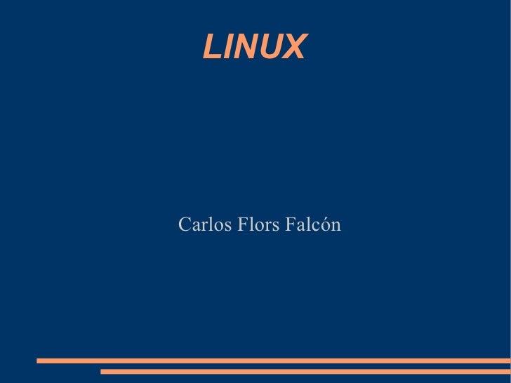 LINUX Carlos Flors Falcón