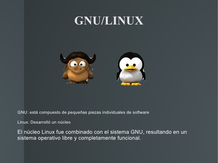 GNU/LINUX GNU: está compuesto de pequeñas piezas individuales de software  Linux: Desarrolló un núcleo El núcleo Linux fue...